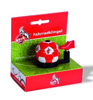 """Bundesliga-Fahrradklingel """"1. FC Köln"""", rot/weiß"""