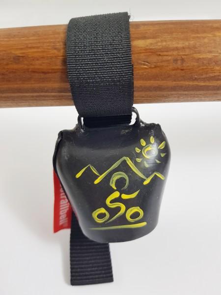 Swisstrailbell Black mit gelbem Mountainbiker