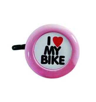 """Electra Fahrradklingel / Glocke """"I love my Bike"""", pink"""