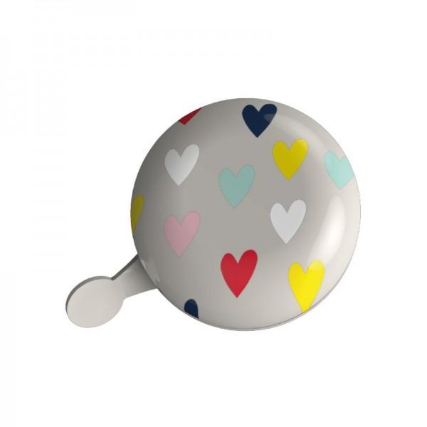 URBAN PROOF Ding Dong Fahrradglocke Confetti Hearts Grau