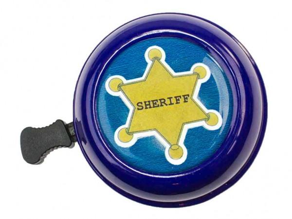 """beBell Fahrradklingel """"Sheriff"""" in blau"""