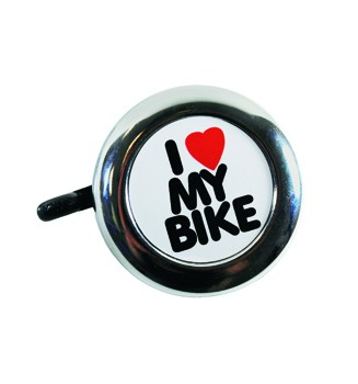 "Electra Fahrradklingel / Glocke ""I love my Bike"", chrome"