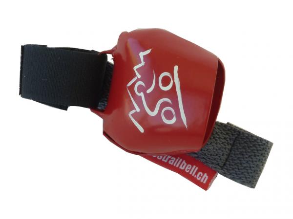Swisstrailbell Collector Edition Rot mit weissem Mountainbiker