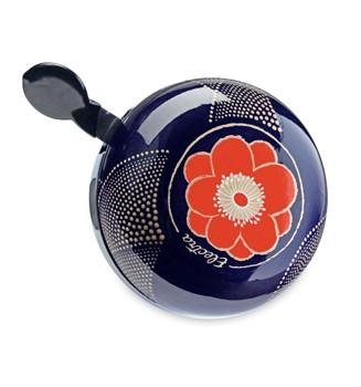 "Electra Fahrradklingel / Glocke Ding Dong ""Hanami"", blau mit orangener Blume"