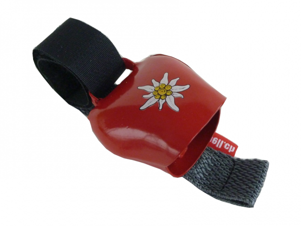 Swisstrailbell Mini Collector Edition rot mit Edelweiss