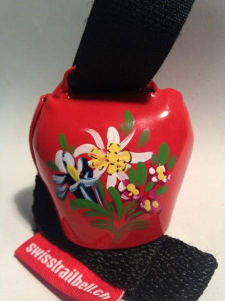 Swisstrailbell Collector Edition rot mit Alpenblumen