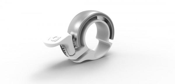 Knog Glocke Oi Classic Large weiß/silber weiß/silber,Ø 23,8 - 31,8 mm