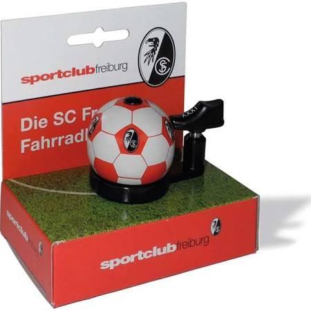 "Bundesliga Fahrradklingel ""SC Freiburg"", weiß / rot"