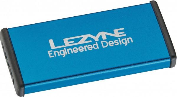 Lezyne Fahrrad Flickzeug Reparaturset Metal, Alubox blau