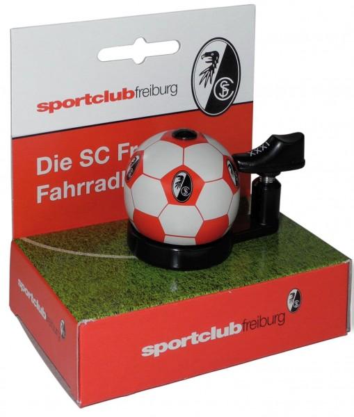"Fußball Bundesliga- Fahrradklingel ""SC Freiburg"", rot/weiß"