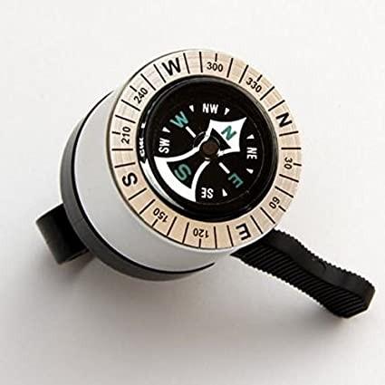 """beBell Miniglocke """"Kompass"""", silber / schwarz"""