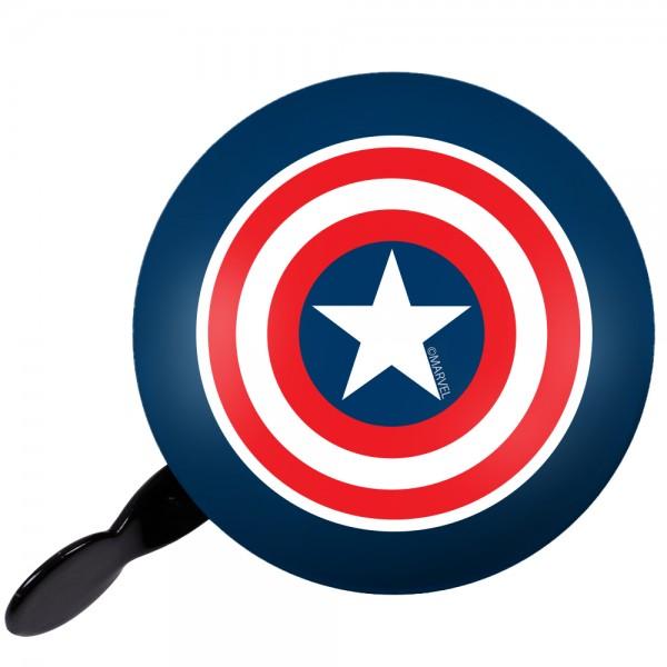 """Marvel 2-Klang Fahrrad Glocke """"Captain America"""", Ø 80mm"""