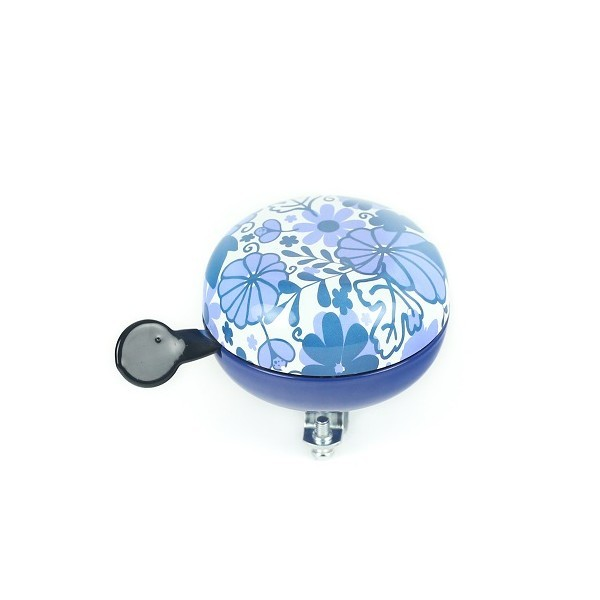 WIDEK große Ding Dong Fahrradklingel Delft Blue Blumen glanz