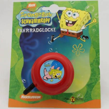 """Kinder Fahrradklingel / Glocke """"Spongebob"""", rot"""