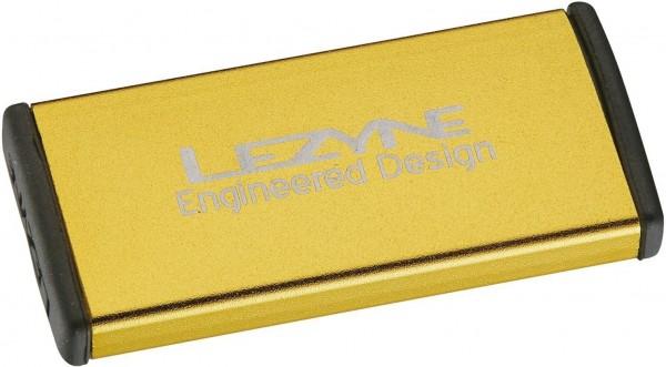 Lezyne Fahrrad Flickzeug Reparaturset Metal, Alubox gold