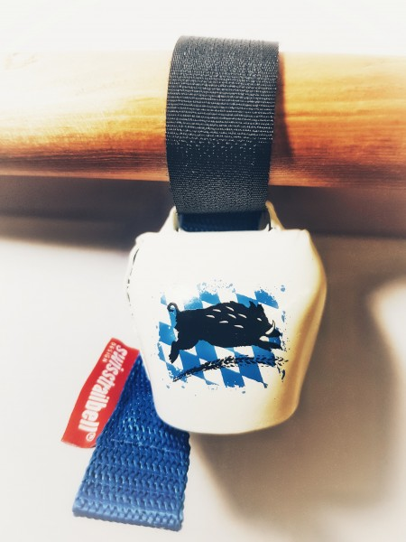 """swisstrail bell """"Rauten-Eber"""" mit blauem Band"""