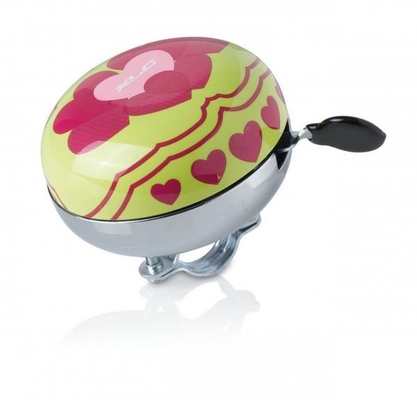 XLC Fahrradklingel / Glocke Mingun Hearts, Durchmesser 83 mm