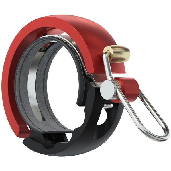 Knog Oi Luxe Large Fahrradklingel red, 23.8-31.8mm