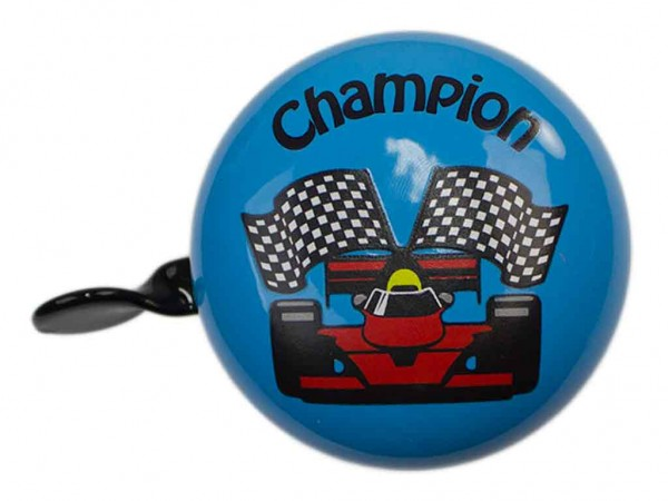 """Mini Ding Dong Fahrradklingel Rennwagen """"Champion"""""""