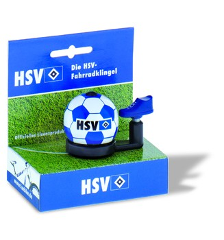 "Bundesliga-Fahrradklingel ""HSV"", blau/weiß"