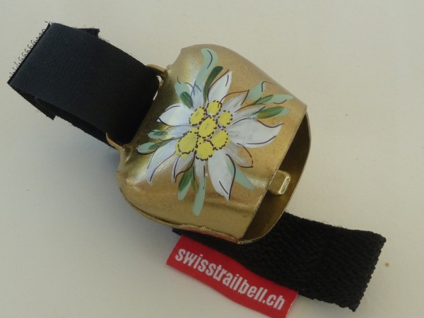 Swisstrailbell Collector Edition Messing mit Edelweiss