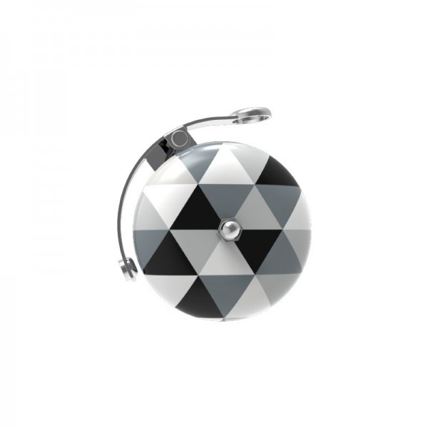 URBAN PROOF Fahrradklingel - Triangles Black&White