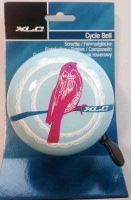 XLC Fahrradklingel / Glocke Mingun Birds, weiß mit Vogel