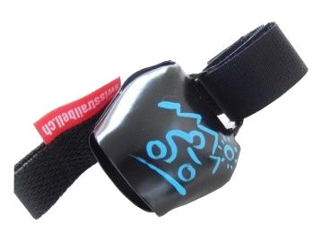 Swisstrailbell Collector Black mit blauem Mountainbiker