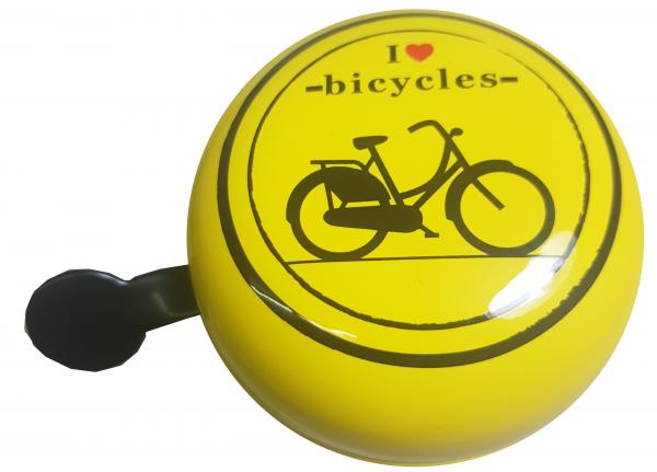 """LTJ 2-Klang Fahrradglocke """"I Love Bicycles"""", Ø 80mm"""