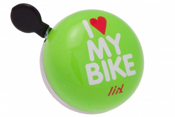 Liix Mini Ding Dong Fahrradklingel I Love My Bike Neon Green