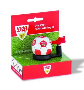 """Bundesliga Fahrradklingel """"VFB Stuttgart"""", weiß/rot"""