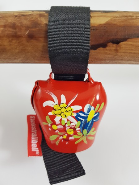 Swisstrailbell Edition rot mit Alpenblumen