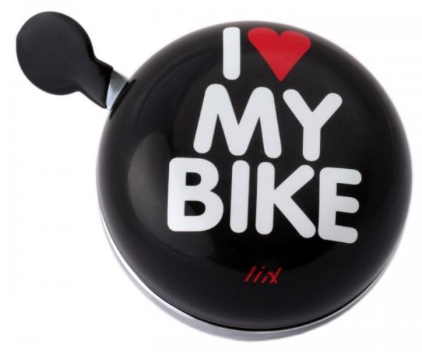 Liix Ding Dong Fahrradklingel I Love My Bike, schwarz
