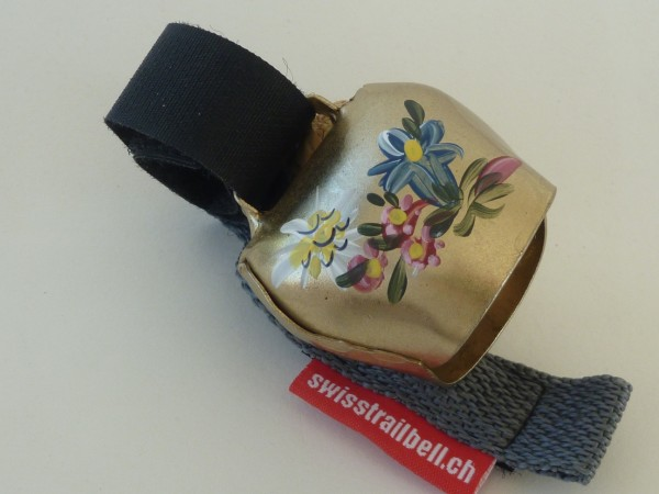 Swisstrailbell Collector Edition Messing mit Alpenblumen