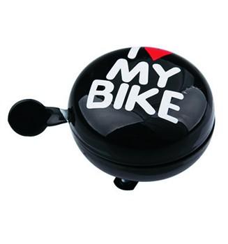 """Ding-Dong Fahrradklingel / Glocke """"I Love MY BIKE"""", schwarz"""