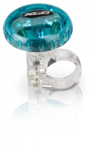 XLC Fahrradklingel / Glocke blau transparent