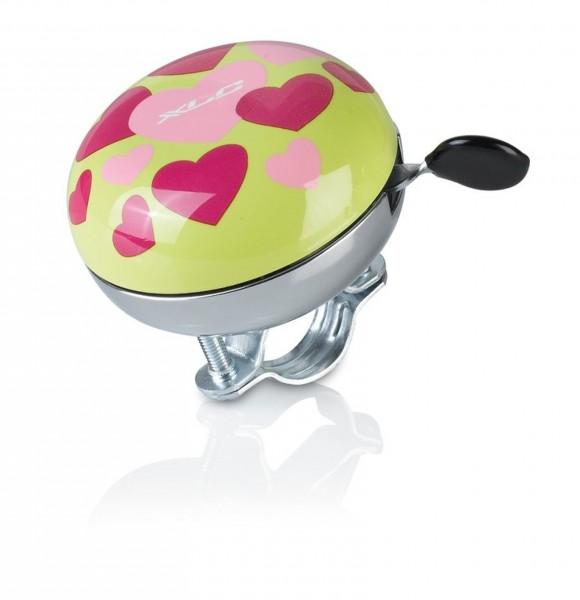XLC Fahrradklingel / Glocke Mingun Hearts, Durchmesser 66 mm