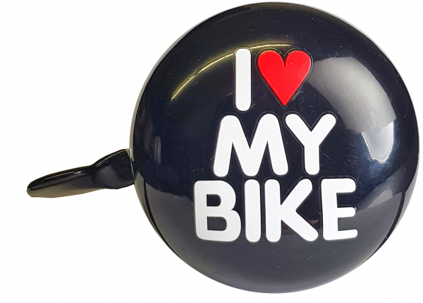 "LTJ 2-Klang Fahrradglocke ""I Love My Bike"", Ø 60mm schwarz"