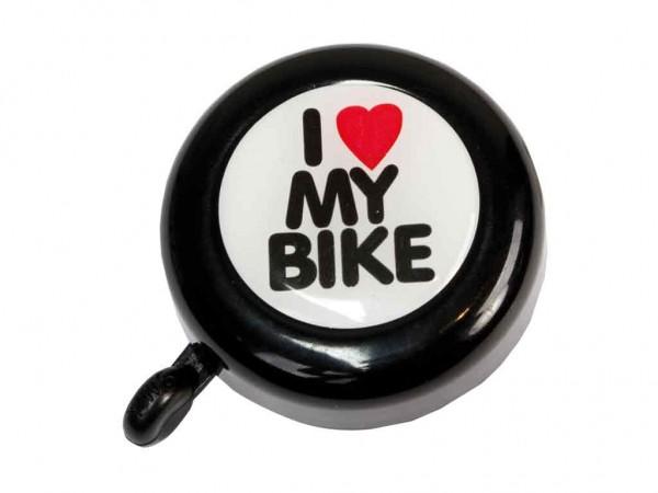 """beBell Fahrradklingel / Glocke """"I love my Bike"""", schwarz"""