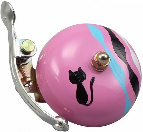 Crane Bell Co. Handpainted Suzu Fahrradklingel Kuko Neko, BLACK CAT