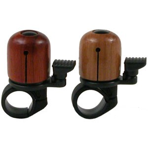 MIRRYCLE Fahrradklingel Incredibell Woodpecker Padauk, rot-braun