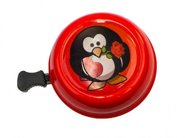 beBell Fahrradklingel Pinguin rot