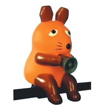 """Fahrradhupe """"Die Maus"""", orange"""