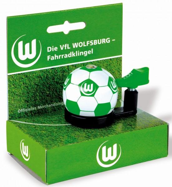 "Fußball Bundesliga- Fahrradklingel ""VfL Wolfsburg"", weiß/grün"