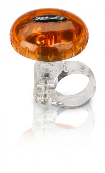 XLC Fahrradklingel / Glocke orange transparent