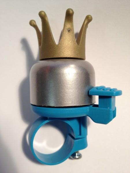 "WIDEK Miniglocke ""Princess Krone"", blau/silber mit goldener Krone"