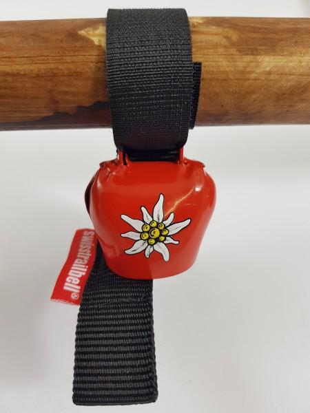 Swisstrailbell Mini Edition rot mit Edelweiß